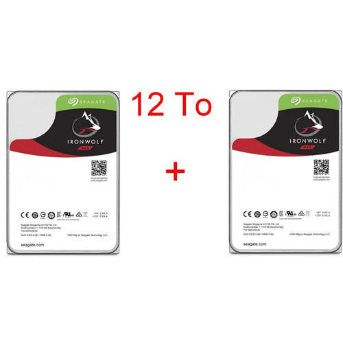 Lot de 2 disques durs Seagate IronWolf, 6 To