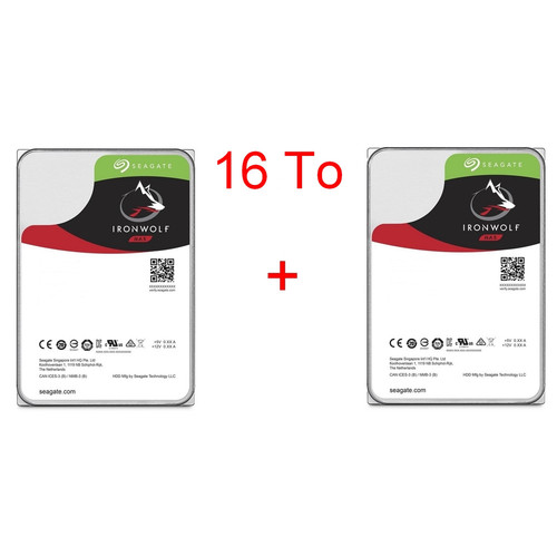 Lot de 2 disques durs Seagate IronWolf 8 To