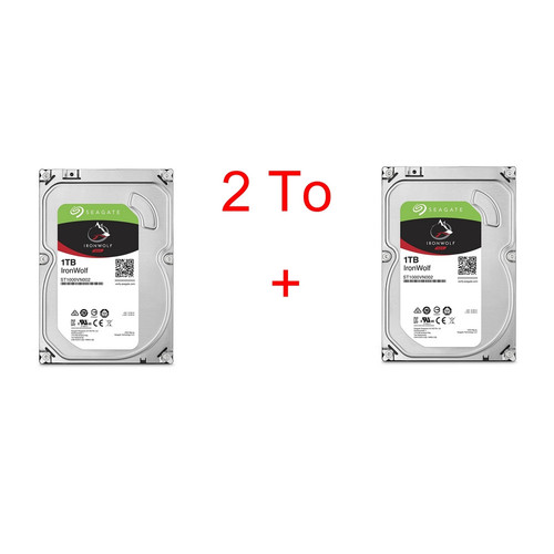 Lot de 2 disques durs Seagate IronWolf, 1 To
