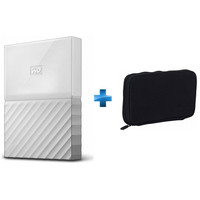 Western Digital My Passport, 1 To, Blanc + Housse