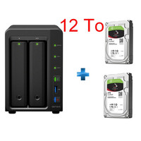 Synology DS716+II + 2 x Seagate IronWolf, 6 To