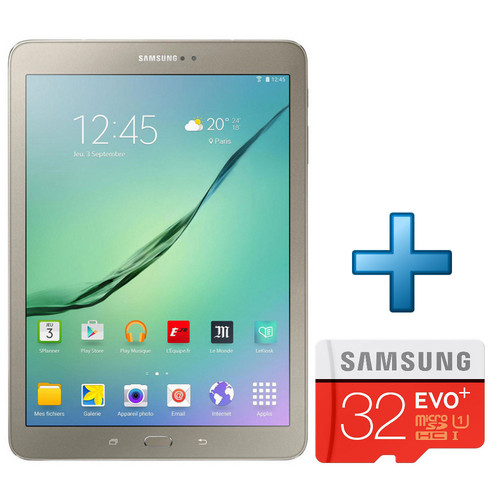 Samsung Galaxy Tab S2 VE 9.7'' 32 Go Wi-Fi Or + Micro SD 32 Go