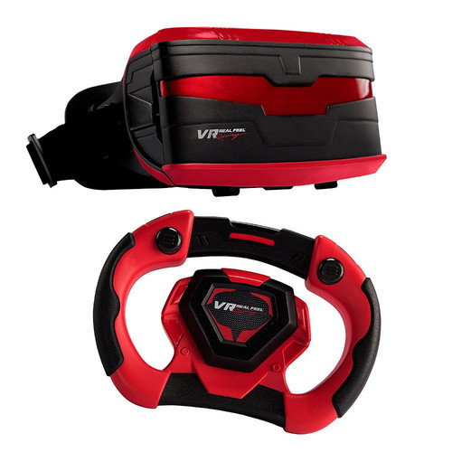 VR Racing Gaming Casque VR + Volant - Rouge