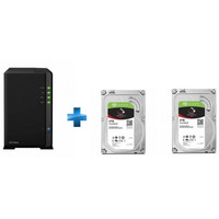 Synology DS216play + 2 x Seagate IronWolf, 2 To