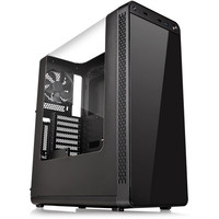 Thermaltake View 27, Noir + 4 ventilateurs Riing, 120 mm (LED Rouges)