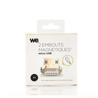 WE 2 x Embout magn�tique Micro USB
