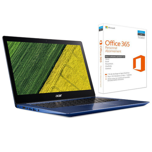 Acer Swift 3 (SF314-52G-55XD) Bleu + Microsoft Office 365 Personnel (1 an)