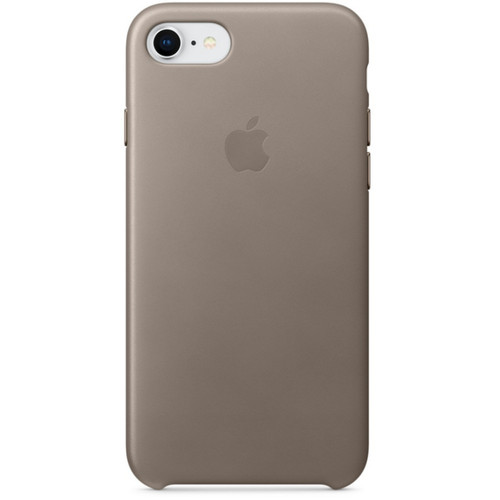 Apple Leather Case pour iPhone 7/8 Taupe