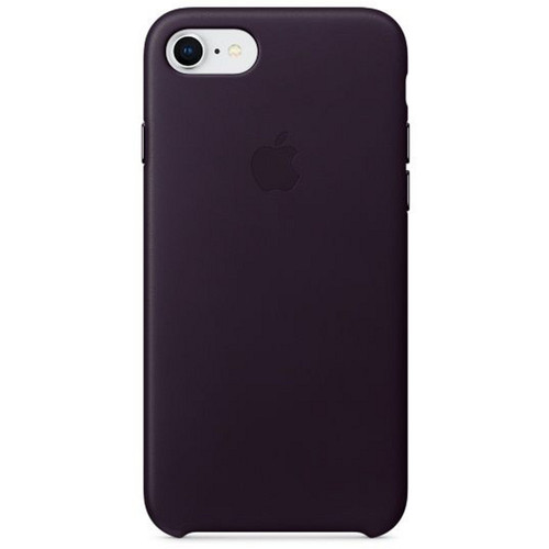 Apple Leather Case pour iPhone 7/8 Aubergine