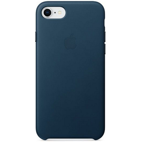 Apple Leather Case pour iPhone 7/8 Bleu cosmos