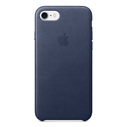 Apple Leather Case pour iPhone 7 Plus/8 Plus Bleu nuit