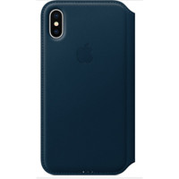 Apple Leather Folio pour iPhone X Bleu cosmos