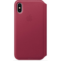 Apple Leather Folio pour iPhone X Fruits rouges