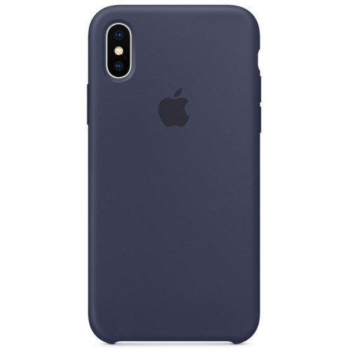 Apple Silicone Case pour iPhone X Bleu nuit