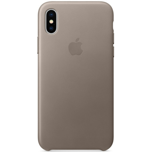 Apple Leather Case pour iPhone X Taupe