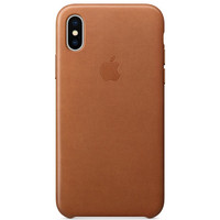 Apple Leather Case pour iPhone X Havane