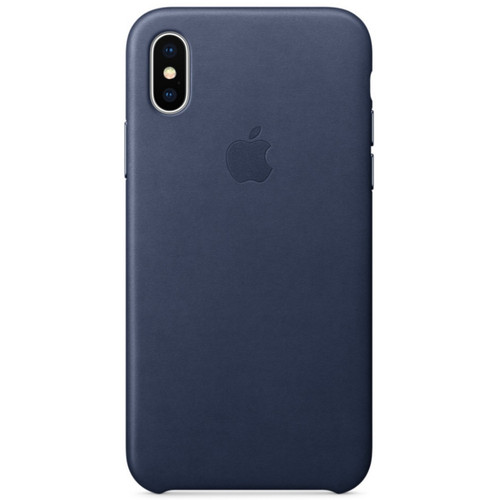Apple Leather Case pour iPhone X Bleu nuit