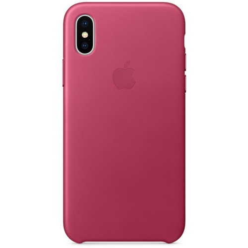 Apple Leather Case pour iPhone X Fuchsia