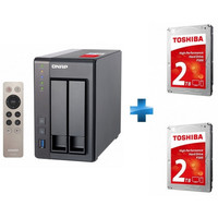 Vente flash exceptionnelle sur QNAP TS-251+ + 2 x Toshiba P300, 2 To
