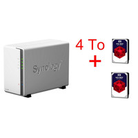 Synology DS216j + 2 x Western Digital WD Red, 2 To