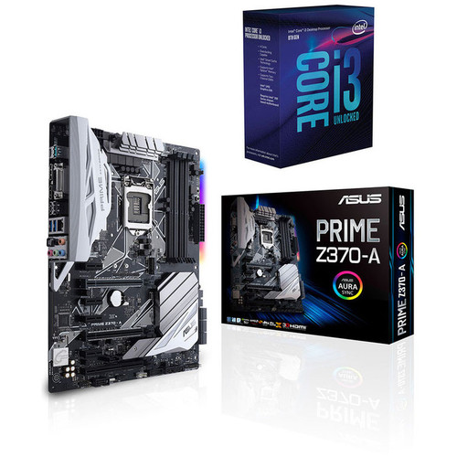 Kit d'évo Intel Core i3-8350K (4.0 GHz) + Asus PRIME Z370-A