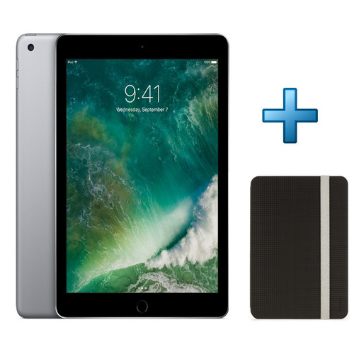 Apple iPad 32 Go 4G Gris sidéral (2017) + Targus Click-in Case noir