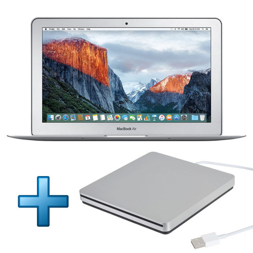 Apple MacBook Air 13'' 256 Go Argent (2017) + Apple USB SuperDrive