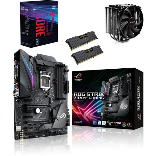 Kit d'évo Core i7-8700K + Asus STRIX Z370F GAMING + Dark Rock 3 + 16 Go