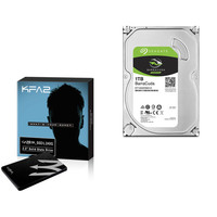 KFA2 Gamer SSD L, 240 Go, SATA III + Seagate BarraCuda, 1 To