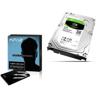KFA2 Gamer SSD L, 240 Go, SATA III + Seagate BarraCuda, 2 To