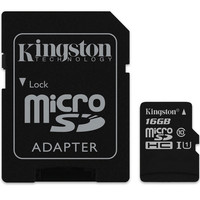 Carte M�moire Micro SDHC UHS-I Kingston SDCS, 16 Go, Classe 10 + Adaptateur SD