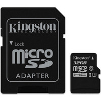 Carte M�moire Micro SDHC UHS-I Kingston SDCS, 32 Go, Classe 10 + Adaptateur SD