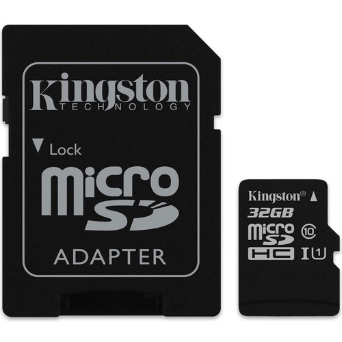 Carte Mémoire Micro SDHC UHS-I Kingston SDCS, 32 Go, Classe 10 + Adaptateur SD
