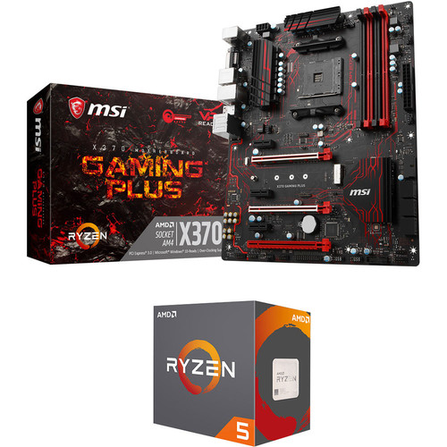 MSI X370 GAMING PLUS + AMD Ryzen 5 1600X (3.6 GHz)