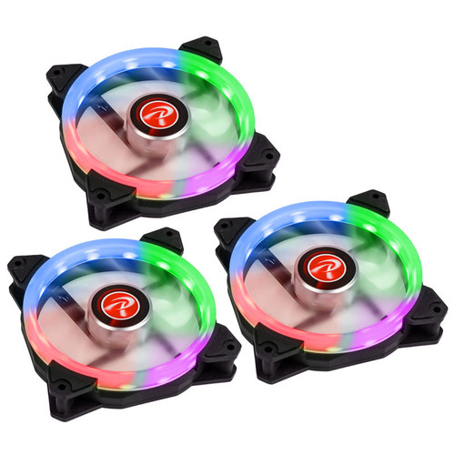 Raijintek IRIS 14 Rainbow RGB, 140 mm (Pack de 3)