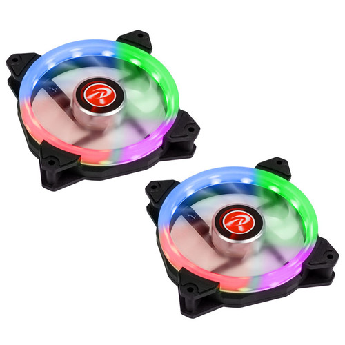 Raijintek IRIS 14 Rainbow RGB, 140 mm (Pack de 2)