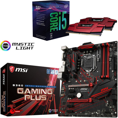 Kit d'évo Intel Core i5-8500 (3.0 GHz) + MSI B360 GAMING PLUS + 16 Go