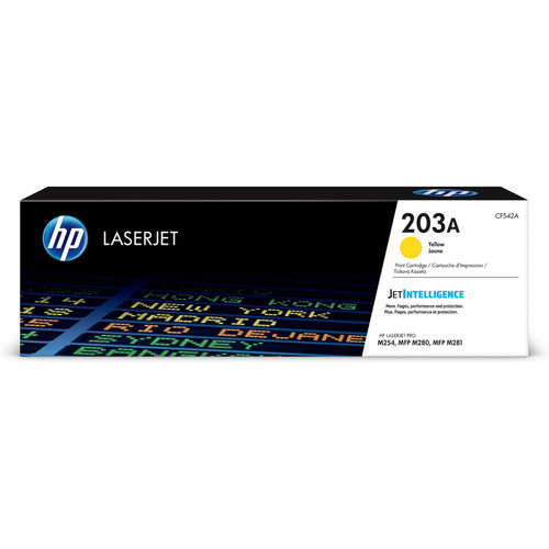 Toner Jaune CF542A, 203A, 1300 pages, HP