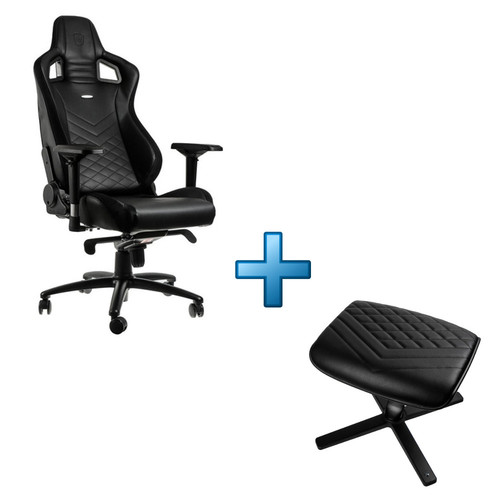 Noblechairs Epic + Noblechairs Footrest - Noir
