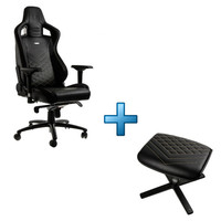 Noblechairs Epic + Noblechairs Footrest - Noir / Or