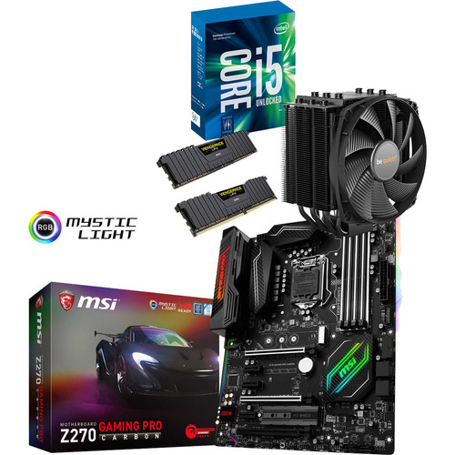Kit d'évo Core i5-7600K + MSI Z270 GAMING PRO CARBON + Dark Rock 4 + 16 Go