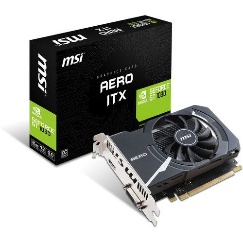 MSI GeForce GT 1030 AERO ITX 2GD4 OC, 2 Go