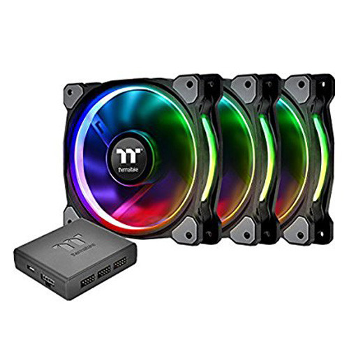 Thermaltake Riing Plus 14 cm RGB Premium Edition, 140 mm (Pack de 3)