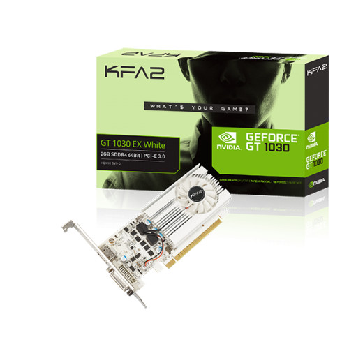 KFA2 GeForce GT 1030 EX White, 2 Go