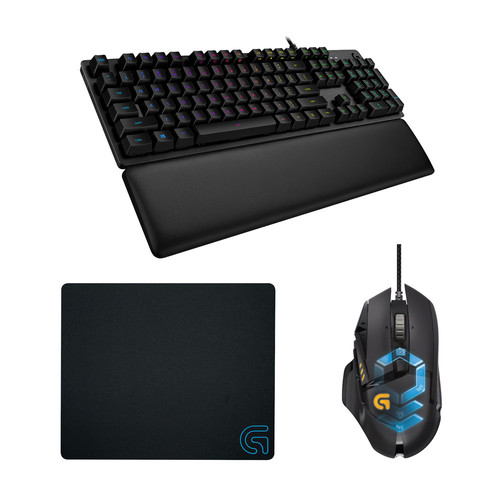 Pack Logitech G502 + G513 Carbon, Tactile Version (Romer-G)(AZERTY) + G240