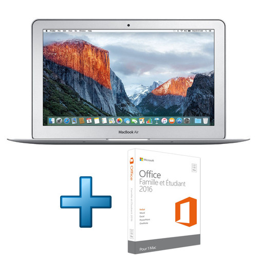 Apple MacBook Air 13'' 128 Go Silver (2017) + Microsoft Office 2016 Mac