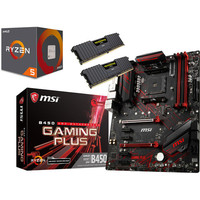 Kit d'�vo AMD Ryzen 5 2600 (3.4 GHz) + MSI B450 GAMING PLUS + 16 Go
