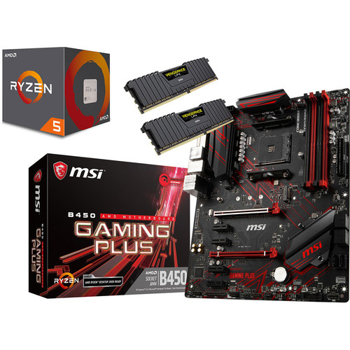 Kit d'évo AMD Ryzen 5 2600 (3.4 GHz) + MSI B450 GAMING PLUS + 16 Go