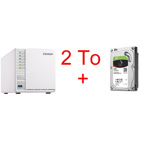 QNAP TS-328 + Seagate IronWolf 2 To