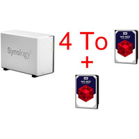 Synology DS218J + 2 x Western Digital WD Red 2 To